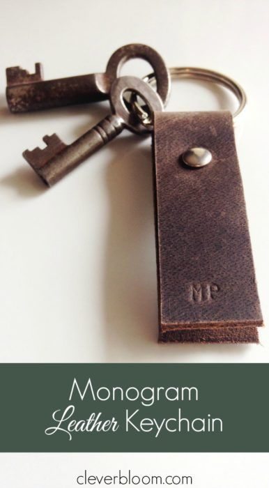 This Monogram Leather Keychain is perfect for anybody and any occasion. DIY made easy with step by step instructions and Free Patterns. Click here to get started!