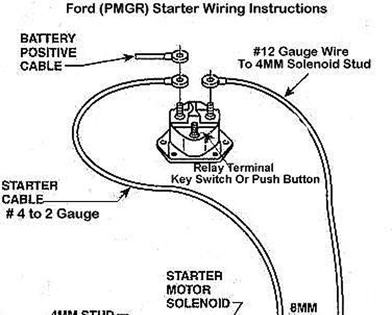 Ford Starter Motor Relay Wiring Diagram