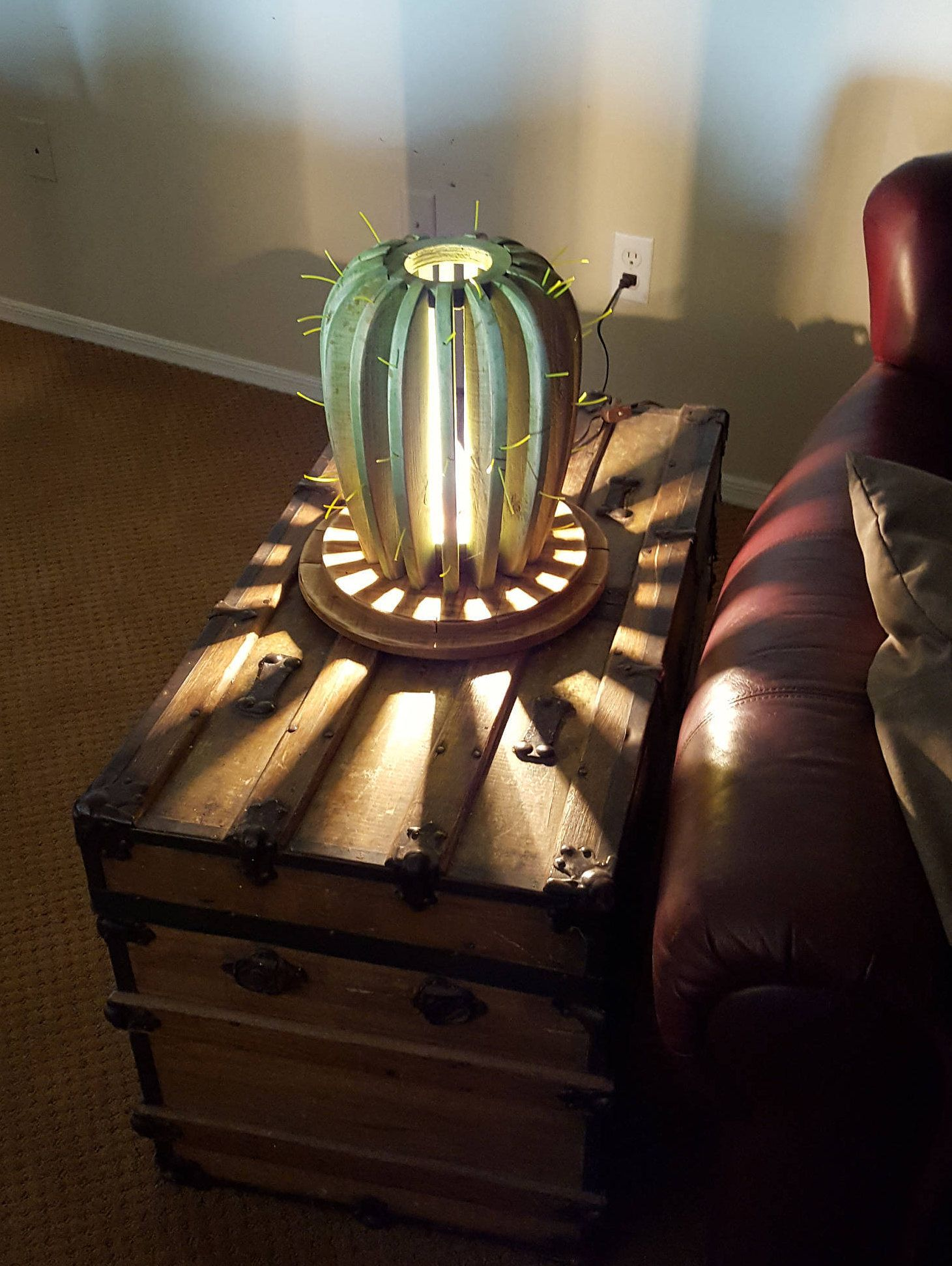 Home Decor Lighting Table Desk Lamp Night Lamp Saguaro Cactus