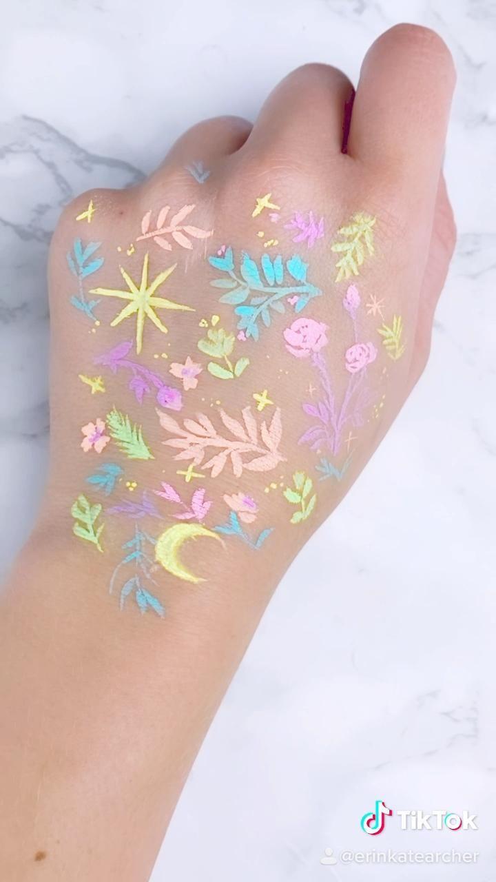 neon pastel body paint