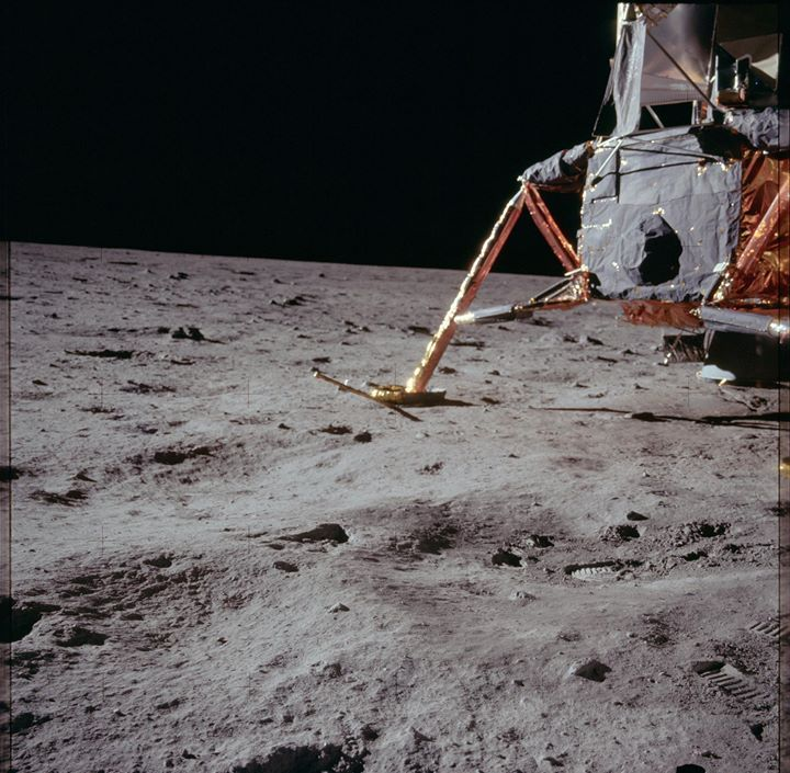 Lunar surface the lm