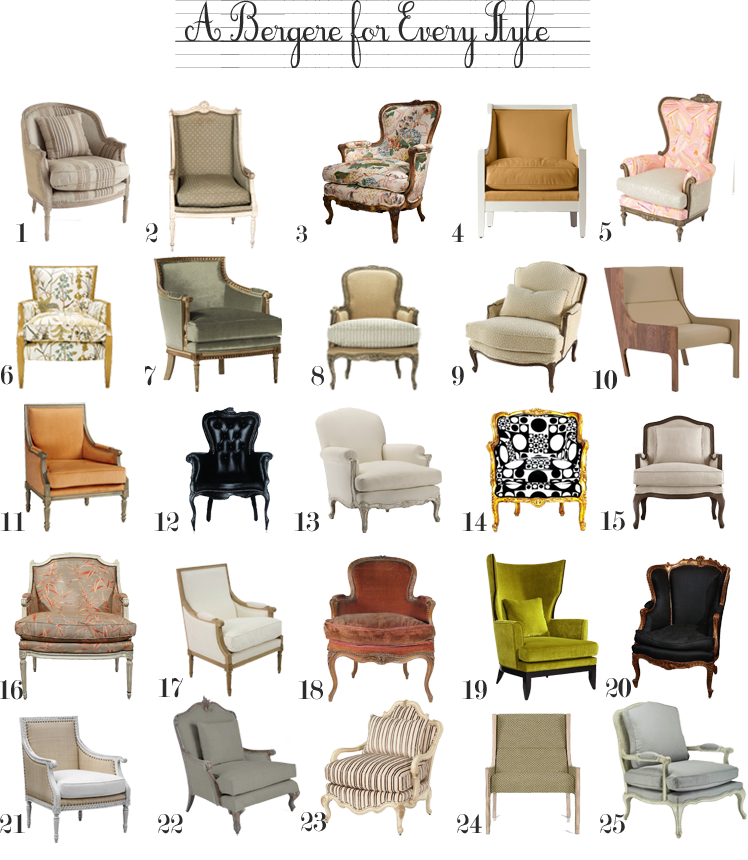 Delicieux A Bergere Chair For Every Style