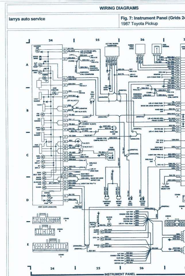 10 toyota 22re engine wiring harness diagram  electrical