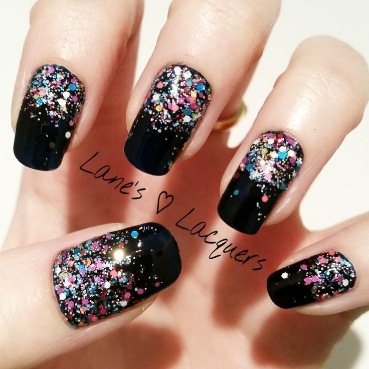 Sparkly New Year Nails | Nails | Pinterest | Nail technician, Mani ...