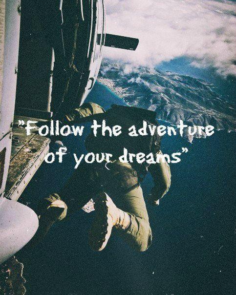 Inspiration Advice Wordstoliveby Adventure Skydive Thrilling