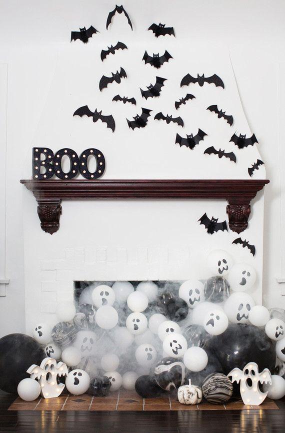 Black And White Halloween Party White Halloween Party Halloween Balloons Halloween Party Kids