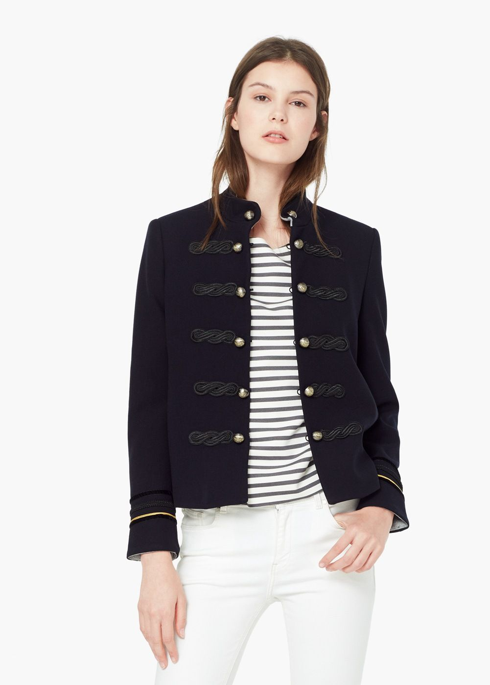 Buttoned jacket | Coats, Autumn and Pullover