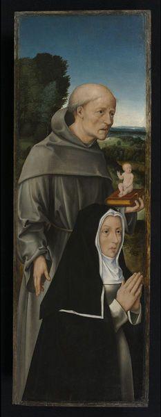St Anthony of Padua with a Nun | David, Gerard | Netherlands 1500