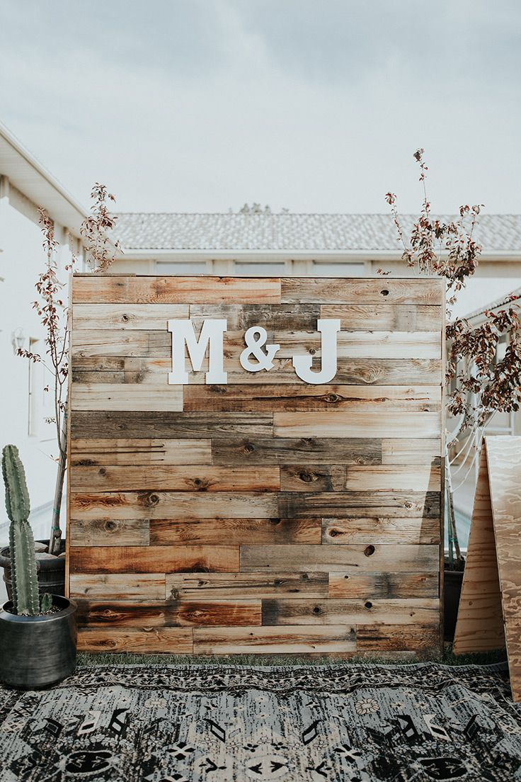 Backyard Bohemian Wedding with Botanical Details Simple