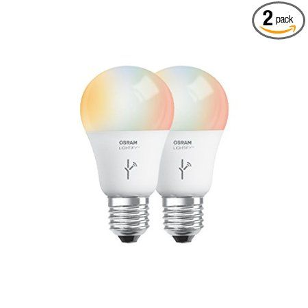 Sylvania Lightify By Osram Smart Home Connected Led Light Bulb 60w A19 Warm White To Daylight 1900k 6500k Rgbw Color Changing W Led Bulb Sylvania Bulb