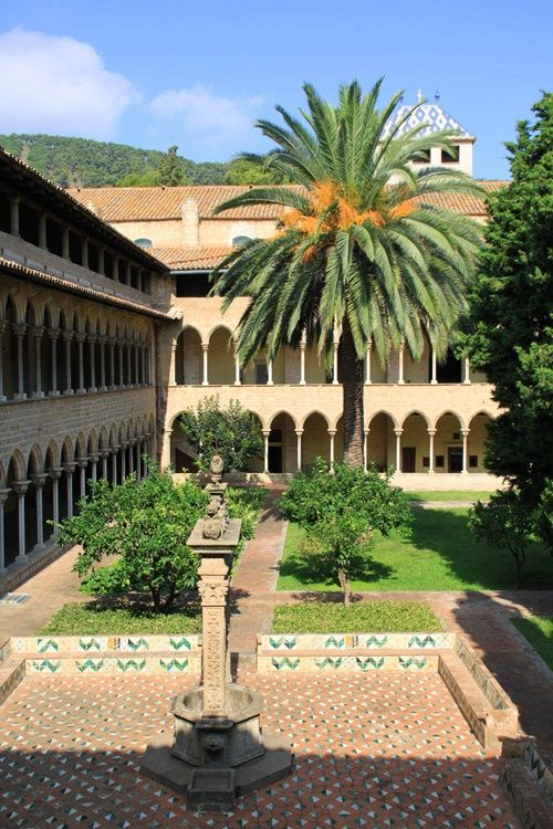 The Gothic Monastery of Pedralbes in Barcelona, Catalonia   Europe