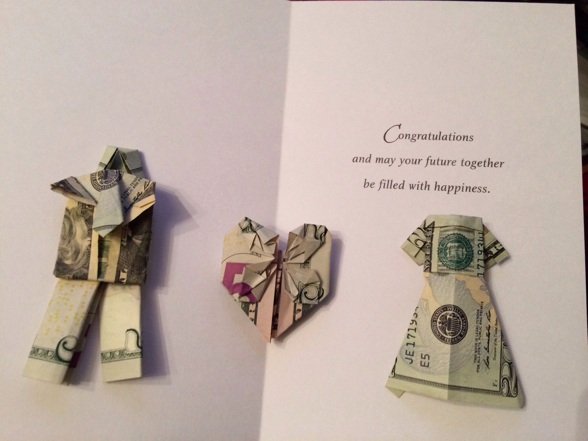 Suggestions For Wedding Gifts: Origami Money - Wedding Gift