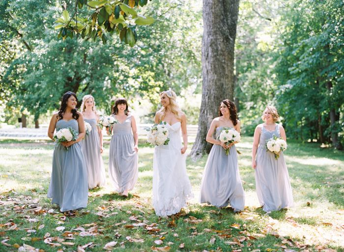 Nathan Westerfield Photography http://www.nathanwesterfield.com  Gray Bridemaids dresses