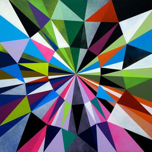 O Modernario Pontiagudices Arte Triangular Arte Geometrica E