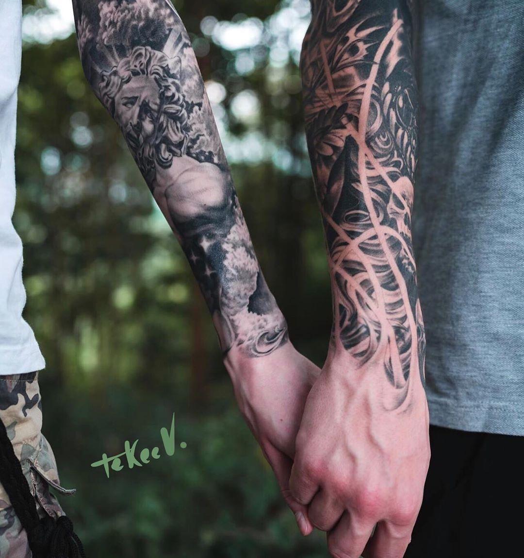 My friends! Healed sleeves #tekeevtattoo #tattooomsk #omsktattoo #tattoomsk #tattoobali #balitattoo #balitattooartist #baliindonesia #berlintattoo #tattooberlin #tattoosleeve #tattoosleeves #sleevetattoo #sleeves #tattooblackandgrey #blackandwhite #blackandgrey #blackandgreytattoo #blackandgreyink #blackandgreytattoos #blackandgreyrealism #blackandgreysleeve #blackandgreytattooartist #blackandgreyartist #realismtattoo #realismtattoos #liketattoo #tattooinsta #tattooinstagram #instatattoo