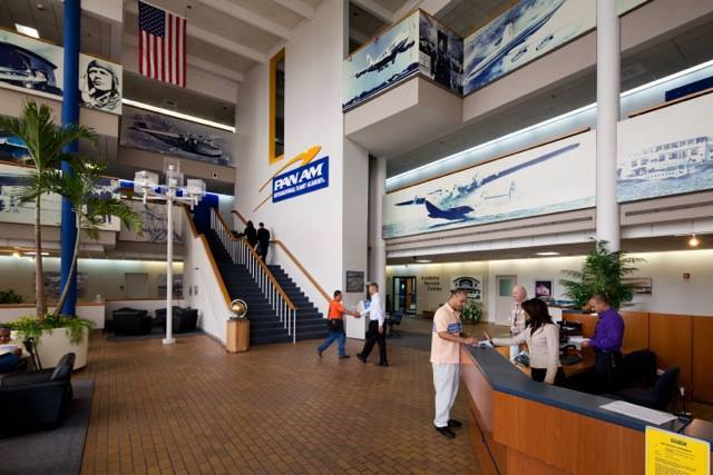 Lobby of the Pan Am International Flight Academy in Miami