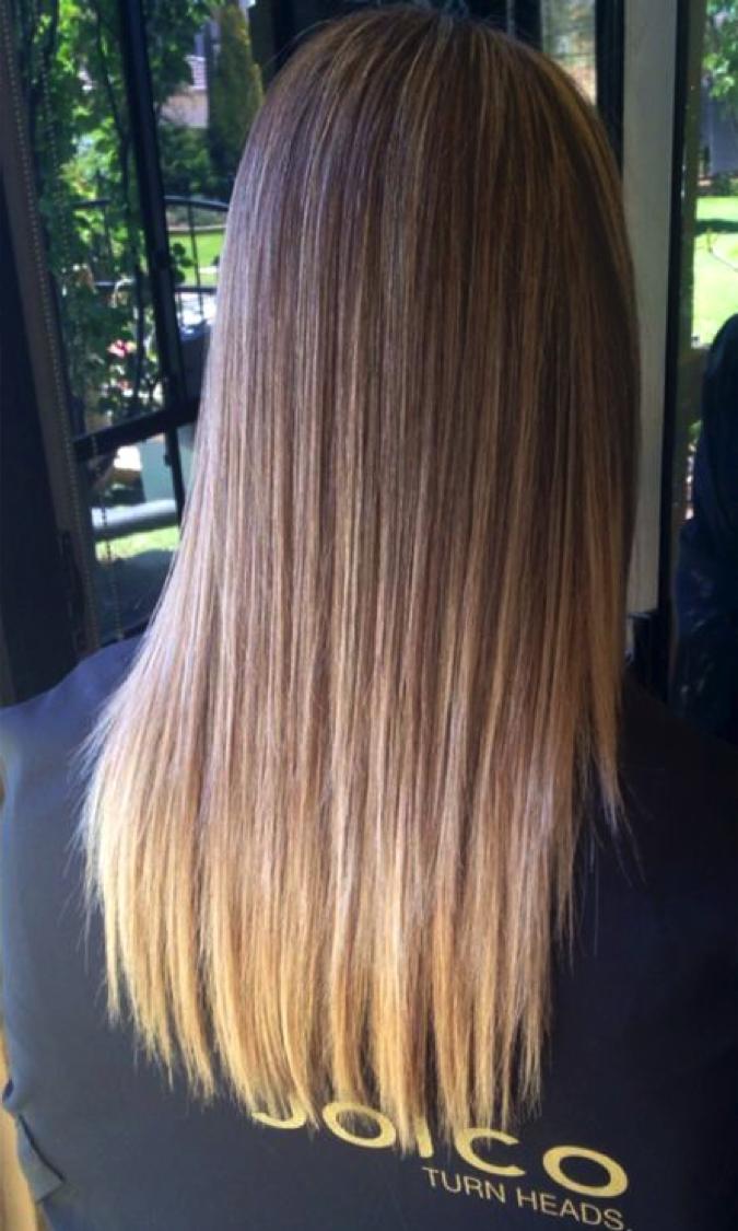 Dark blonde balayage