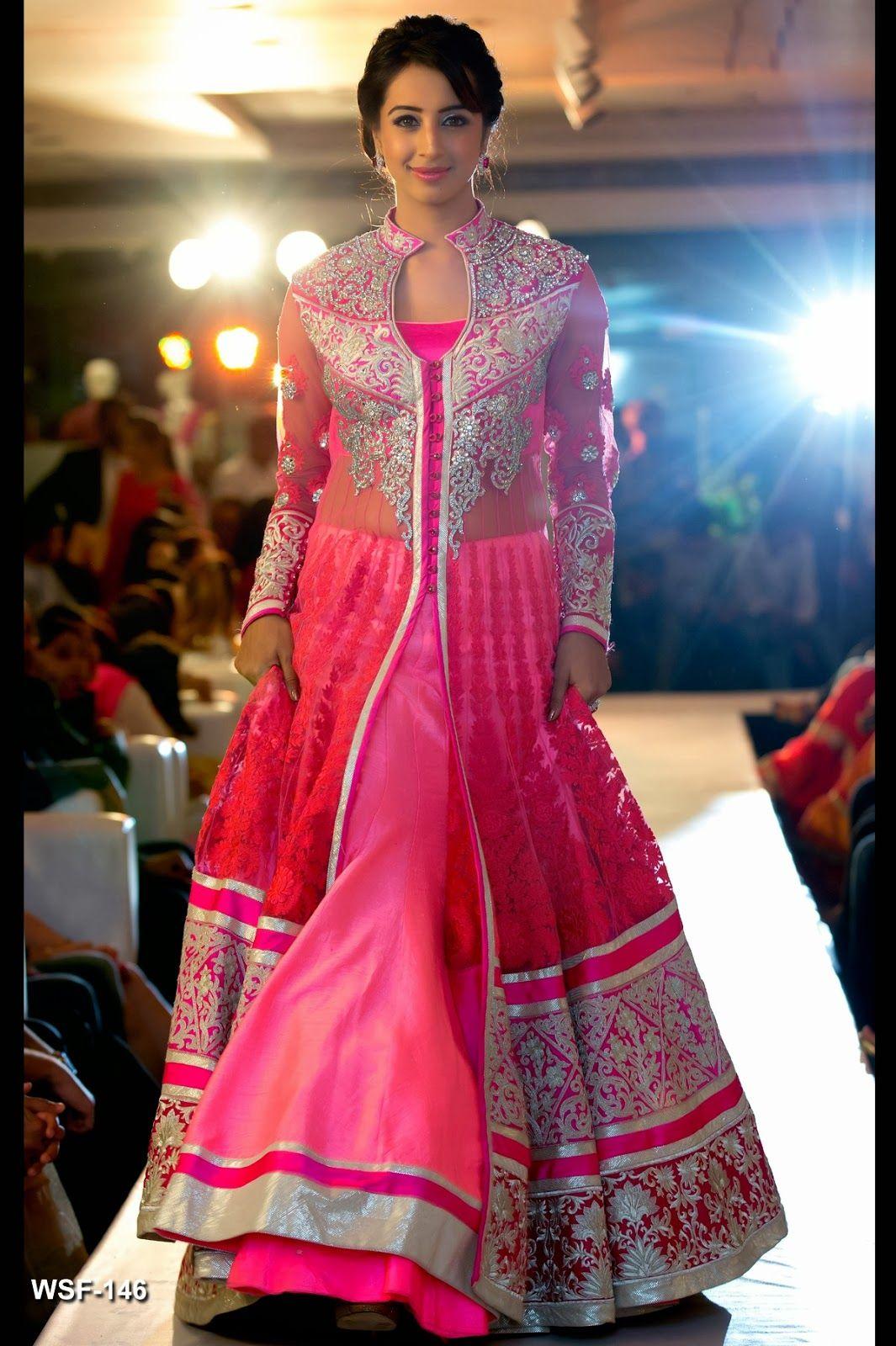 Neerus Fashion Show Collection Sanjana In Pink Salwaar