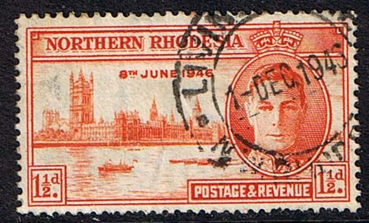 Northern Rhodesia 1946 Victory SG 46 Fine Used    SG 46 Scott 46    Condition  Fine Used    Only one post charge applied on multipule purchases