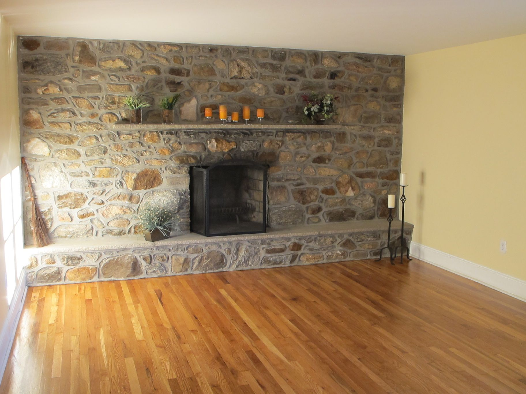 top 19 images collection for stone wall with fireplace