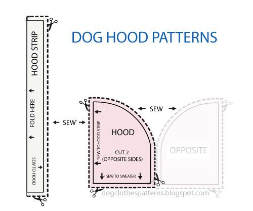 Free Dog Clothes Patterns: Dog Hoodie patterns | dog needs ...
