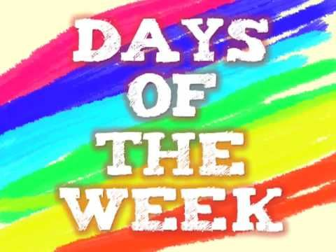 Days of the week, song