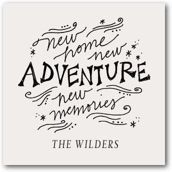 New Adventure Signature White Enclosure Cards Stacey Day - Happy new home quotes