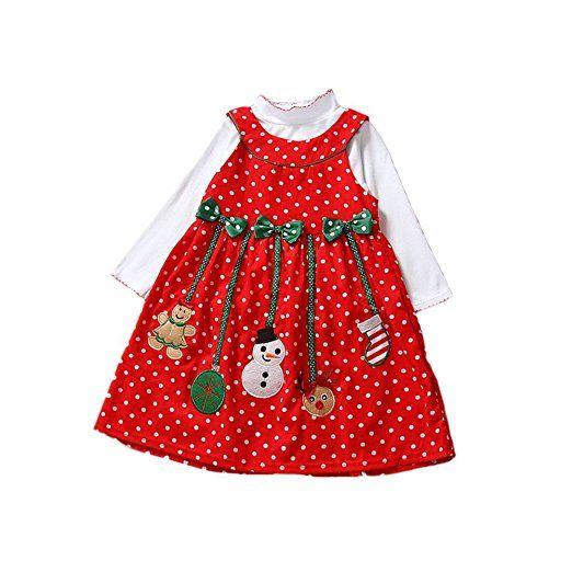 Weihnachten Kleid Mädchen Rock Schneemann Deko mit Schleife als ...