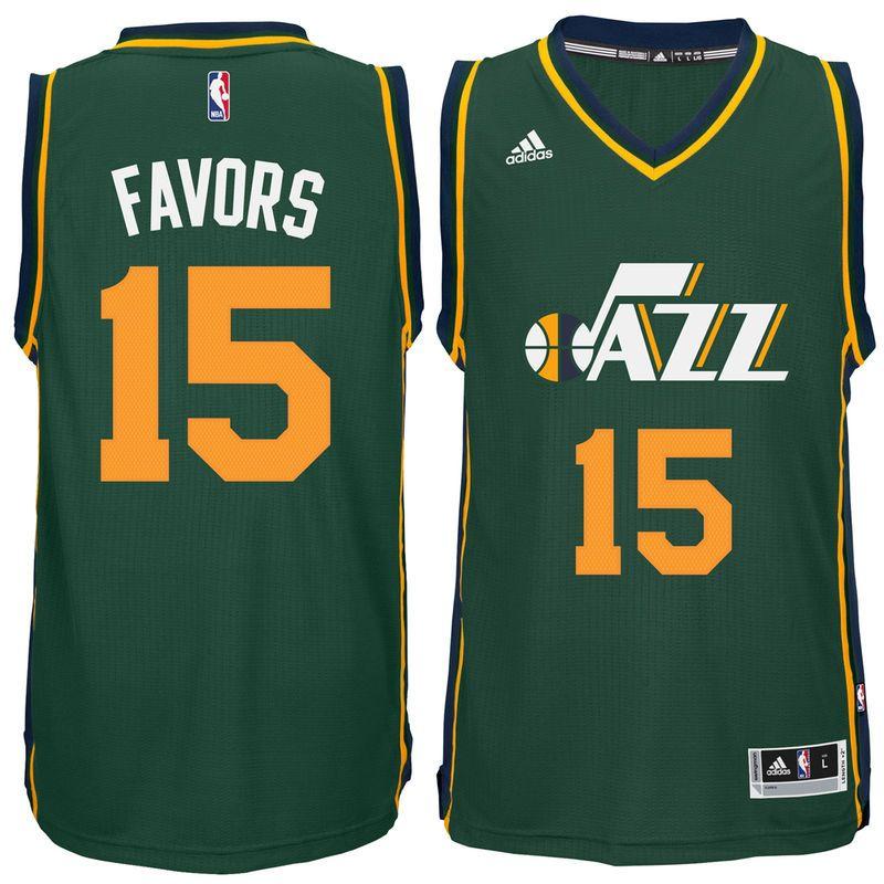 Derrick Favors Utah Jazz adidas Player Swingman Alternate Jersey - Green ef1b72e68