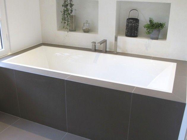 Baignoire villeroy et boch avec un int rieur en b ton cir blanc salle de bain pinterest - Carrelage villeroy et boch salle de bain ...