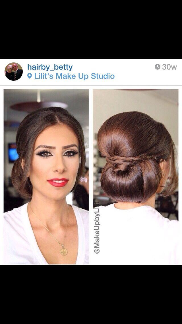 Low Bun Middle Part Bridal Bridal Hair Bridal Hair Veil Hair Styles
