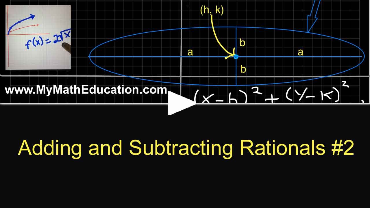 Pin By Mymatheducation On Rational Functions Simplifying Rational Expressions Rational Expressions Parent Functions Adding rational expressions with like