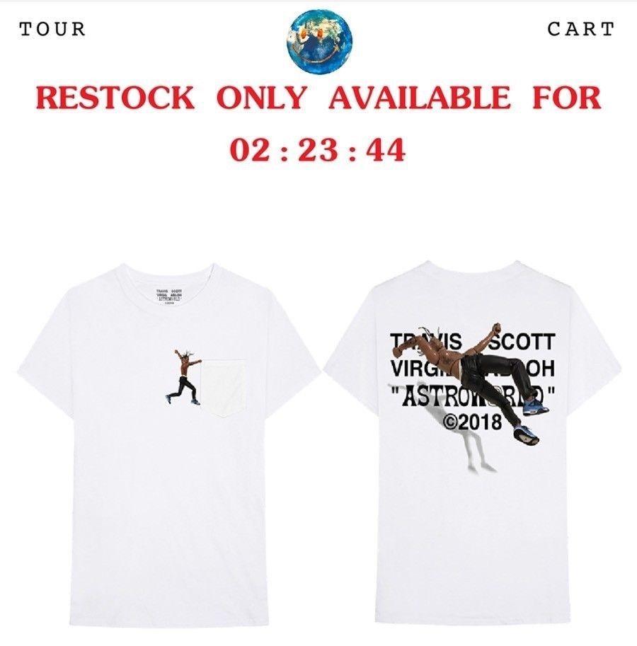 5cc486a03a05 Travis Scott Virgil Abloh Astroworld T-shirt Size Large Off-White