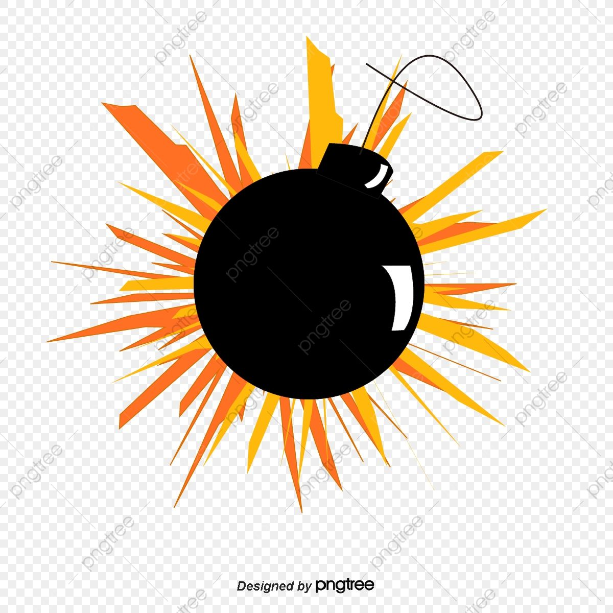 Bomb Explosion Hand Painted Cartoon Bomb Explosion Png And Vector With Transparent Background For Free Download Bombs Hand Painted Transparent Background