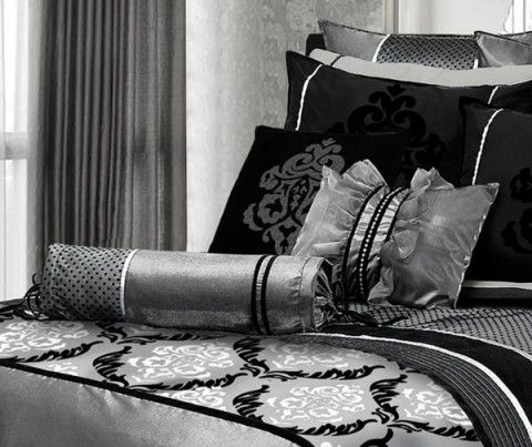 Image detail for -Silver Bedroom Ideas black white silver bedroom ...