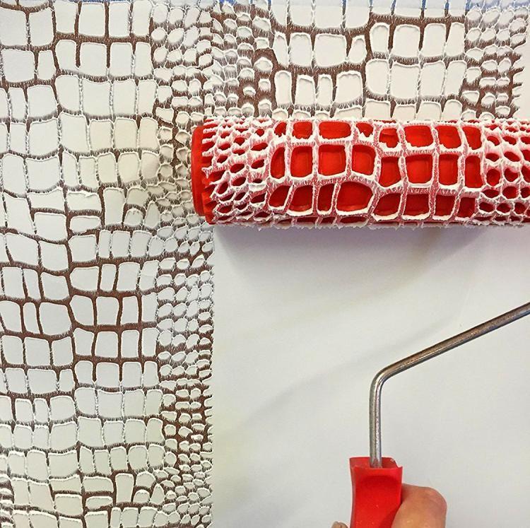 Photo of Crocodile Skin Pattern Paint Roller – Crocodile Skin Pattern Cement Stamper Roll…