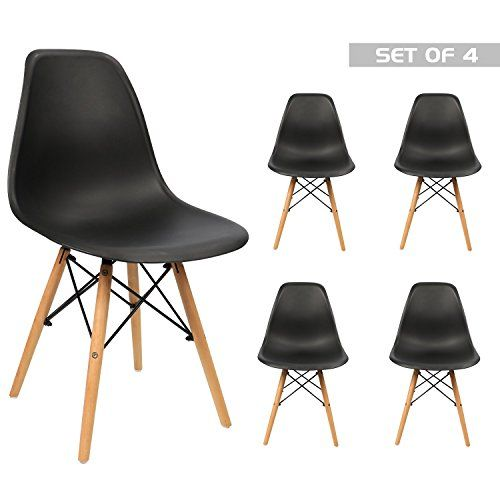 Devoko Mid Century Modern Eames Style Pre Assembled Dining Chair