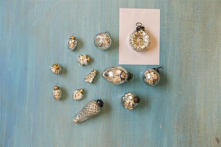 Fave 3 6 H Mercury Glass Ornaments Antique Silver Set Of 12 Wholesale Ornaments Holidays Mercury Glass Ornaments Ornament Set Glass Ornaments