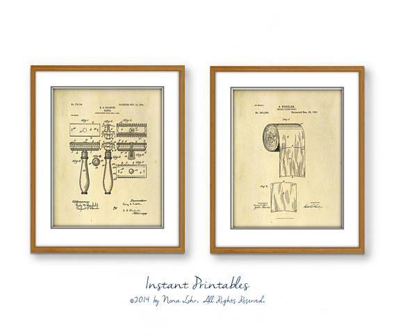 SALE Vintage Patent Print Old Wall Decor Digital Wall Art | instant ...