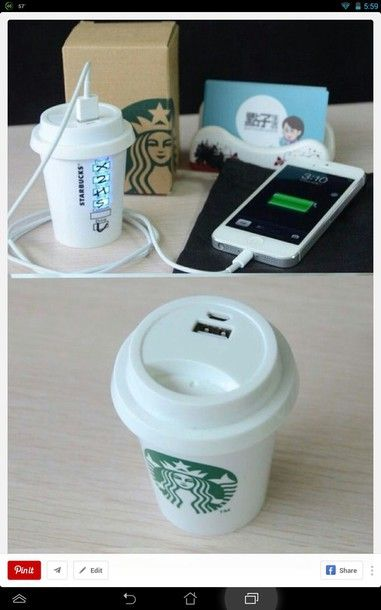 starbucks portable iphone charger