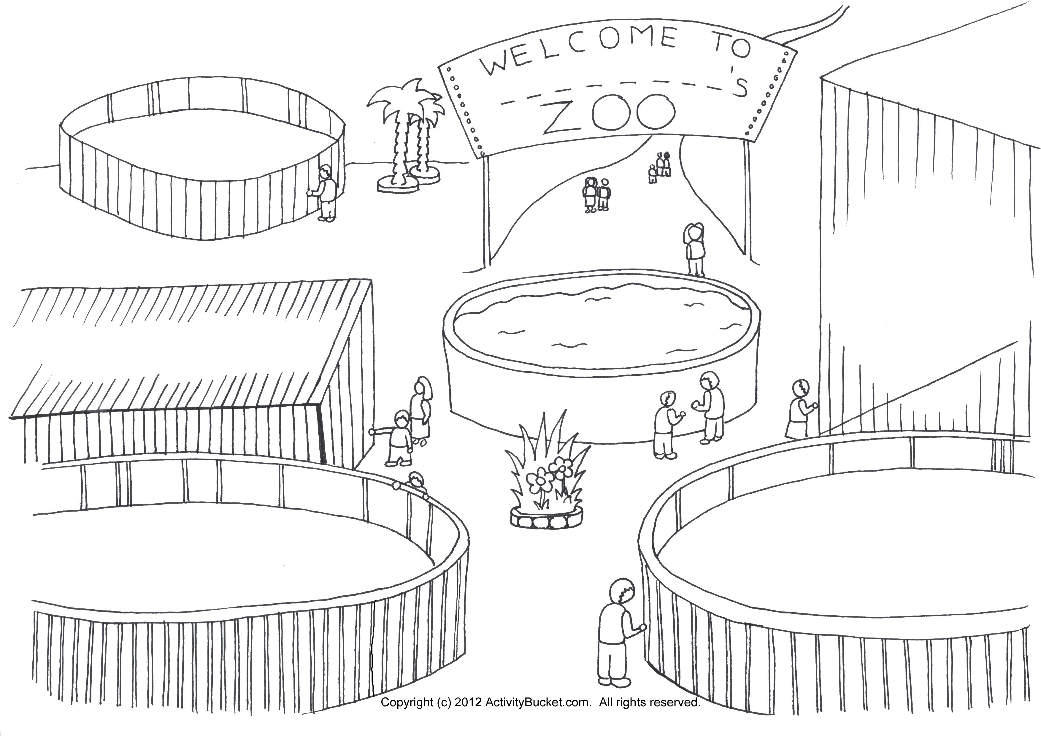 my zoo coloring page zoo animal habitats pinterest coloring zoos and coloring pages. Black Bedroom Furniture Sets. Home Design Ideas