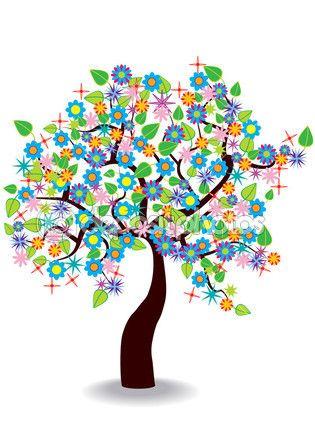 imagenes de arboles coloridos animados  Buscar con Google