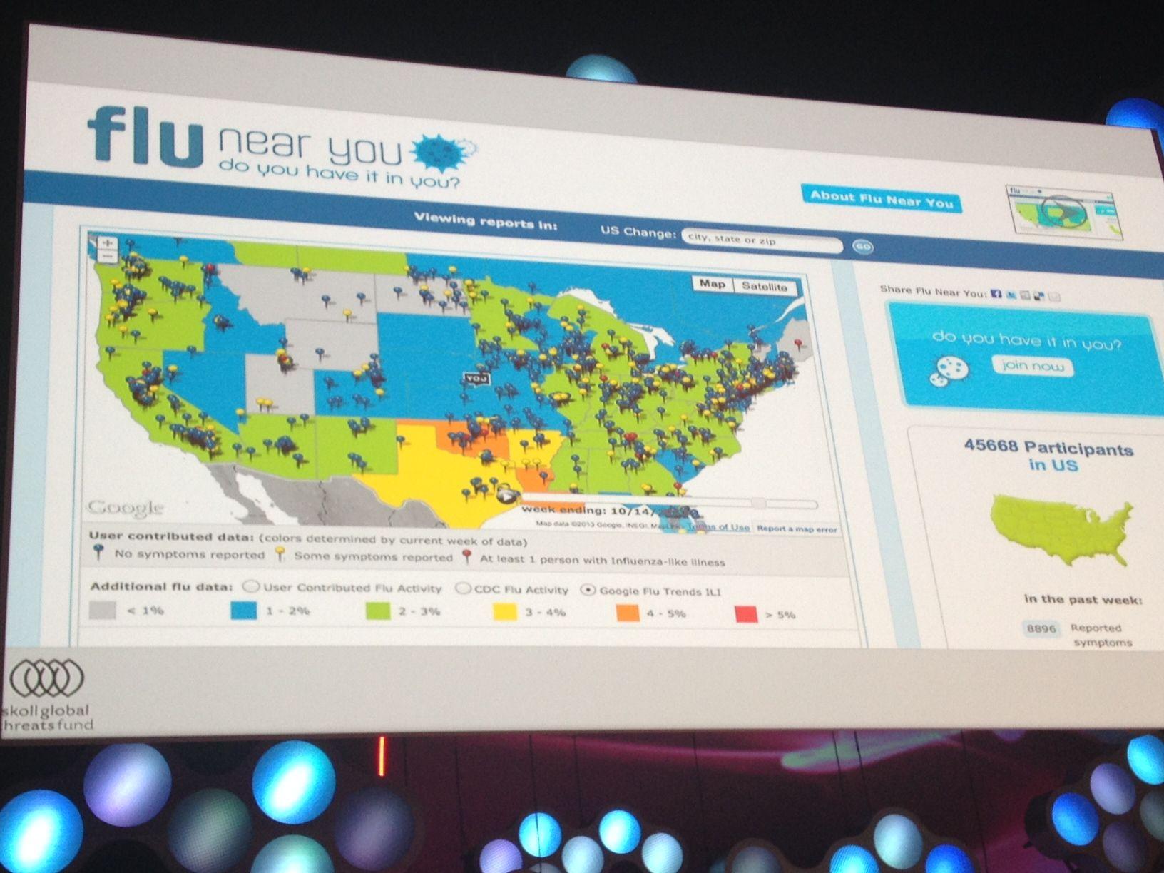 Interactive Flu Map At TEDMED TEDMED TALKS Pinterest Flu - Current us flu map