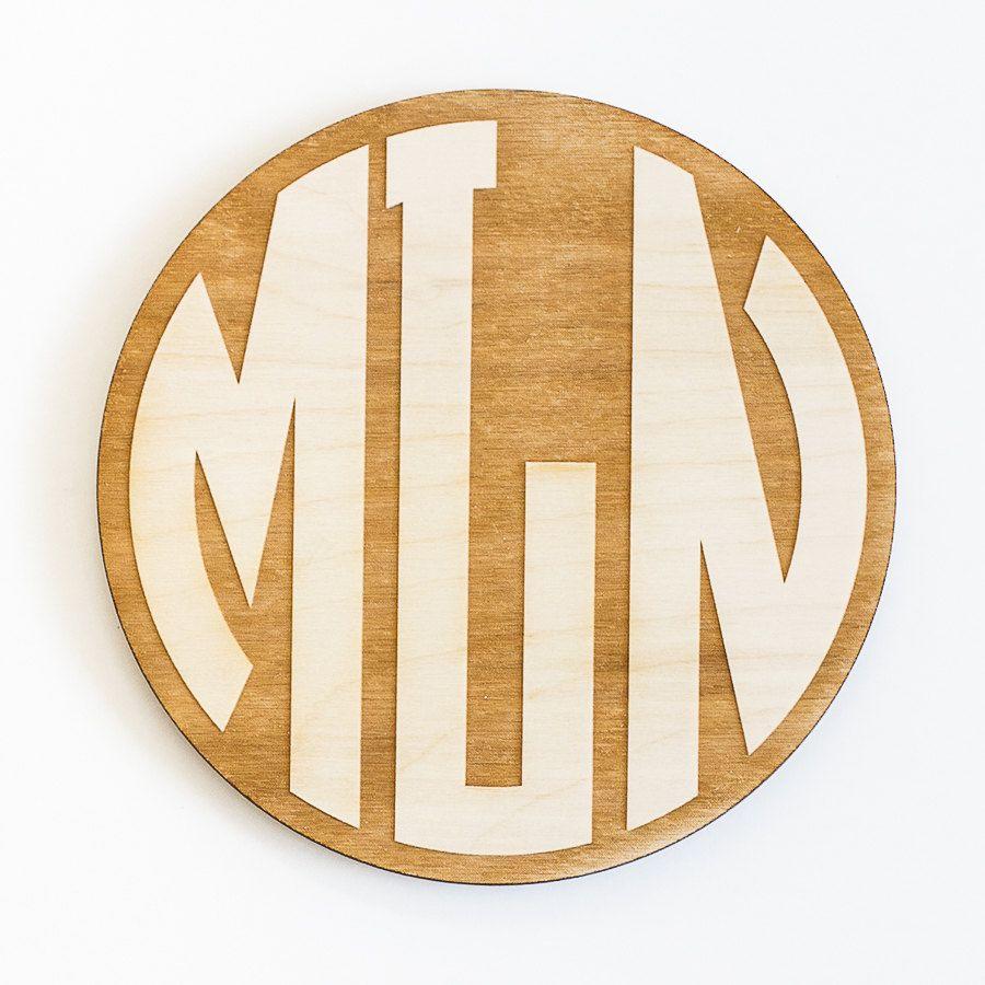 Circle monogram engraved wood sign personalized wooden monogram circle monogram engraved wood sign personalized wooden monogram custom monogram gift monogram wedding biocorpaavc Gallery