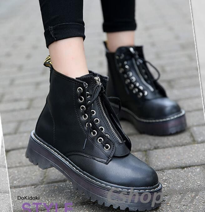9a51c3eae40 Punk British Style Womens Lace Up Oxfords High Top Pu Leather Casual Ankle  Boots
