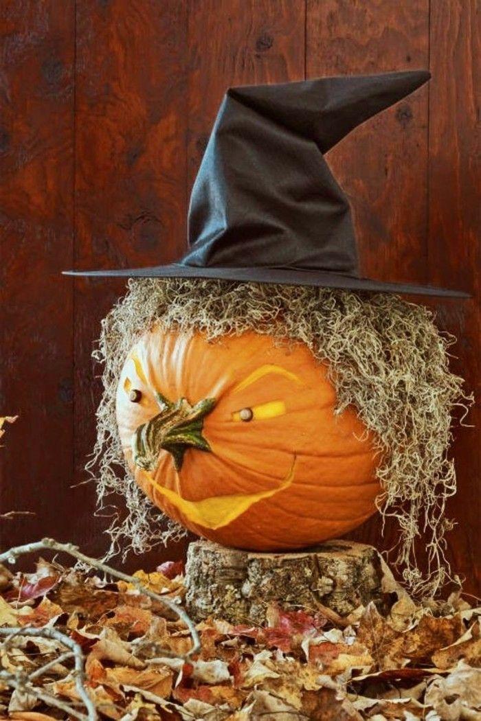 Halloween Kürbis - 40 ausgefallene Ideen, wie Sie Kürbisse zu Halloween in Szene setzen #cheapdiyhalloweendecorations