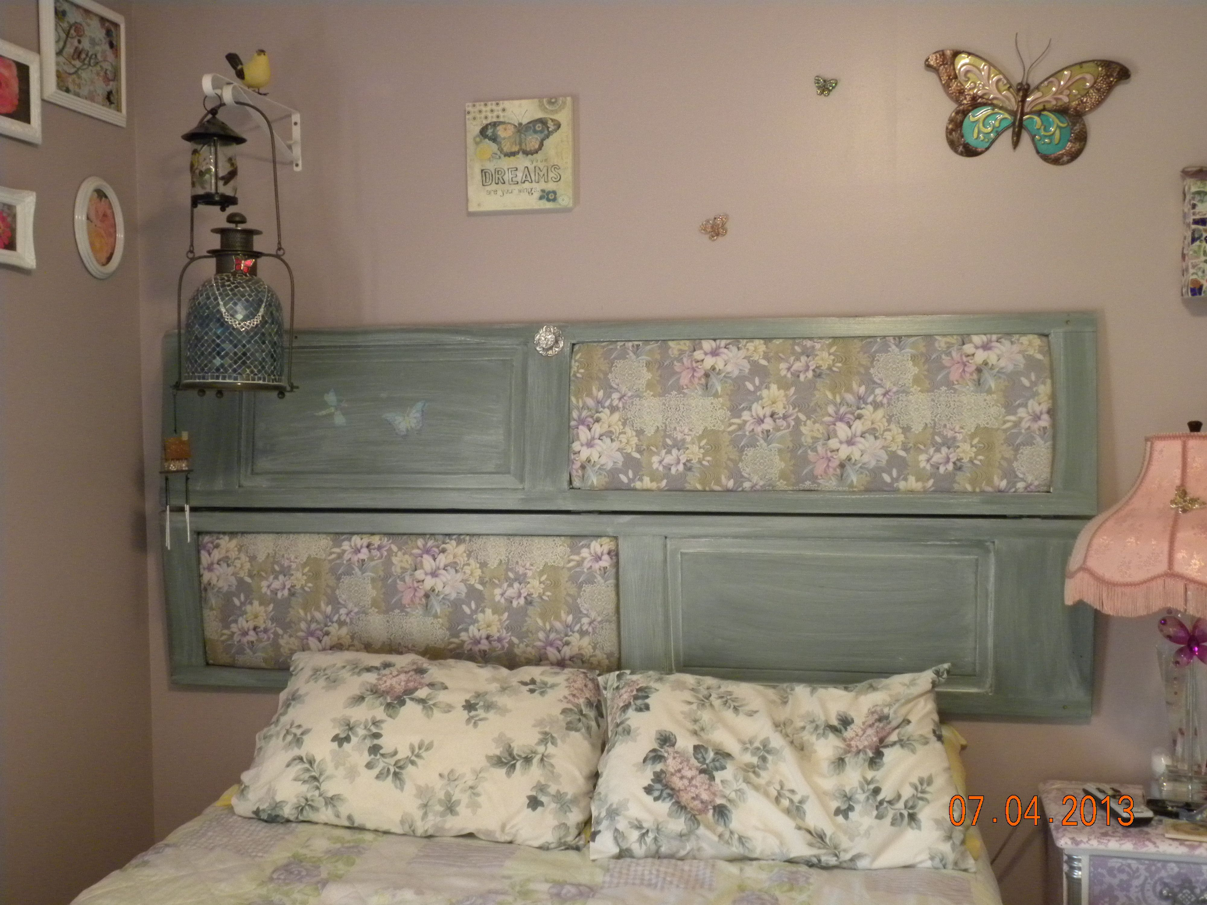 Headboard made from bi-fold doors | My Creations | Pinterest | Bi ...