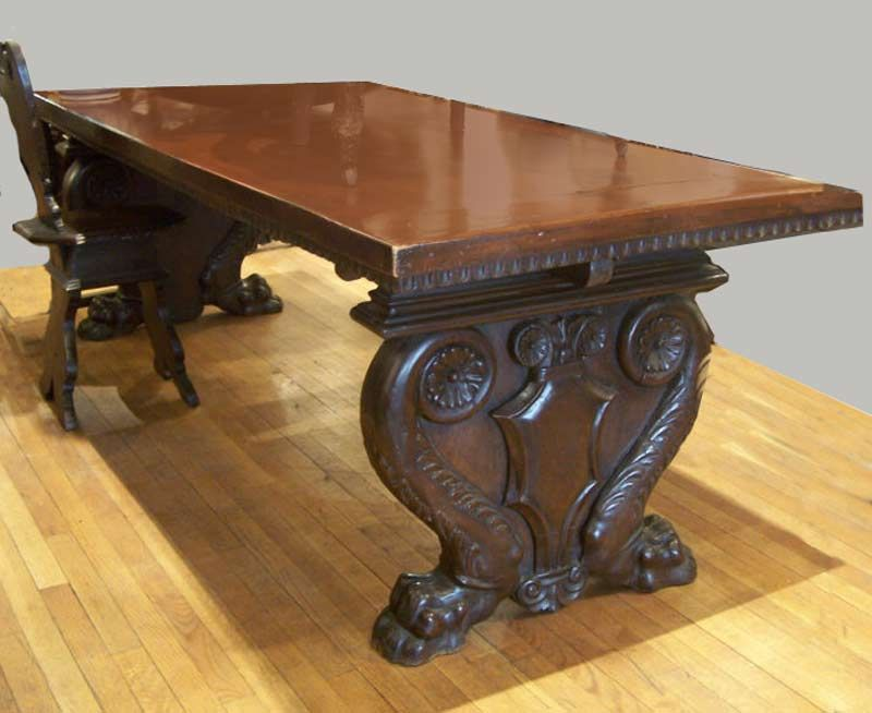 Antique Tables  Carved Tables  Pinterest  Vintage Furniture Delectable Antique Dining Room Table And Chairs Review
