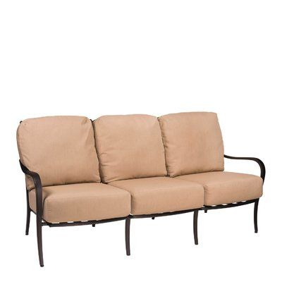 Best Woodard Apollo Sofa With Cushions Frame Color Chestnut 400 x 300