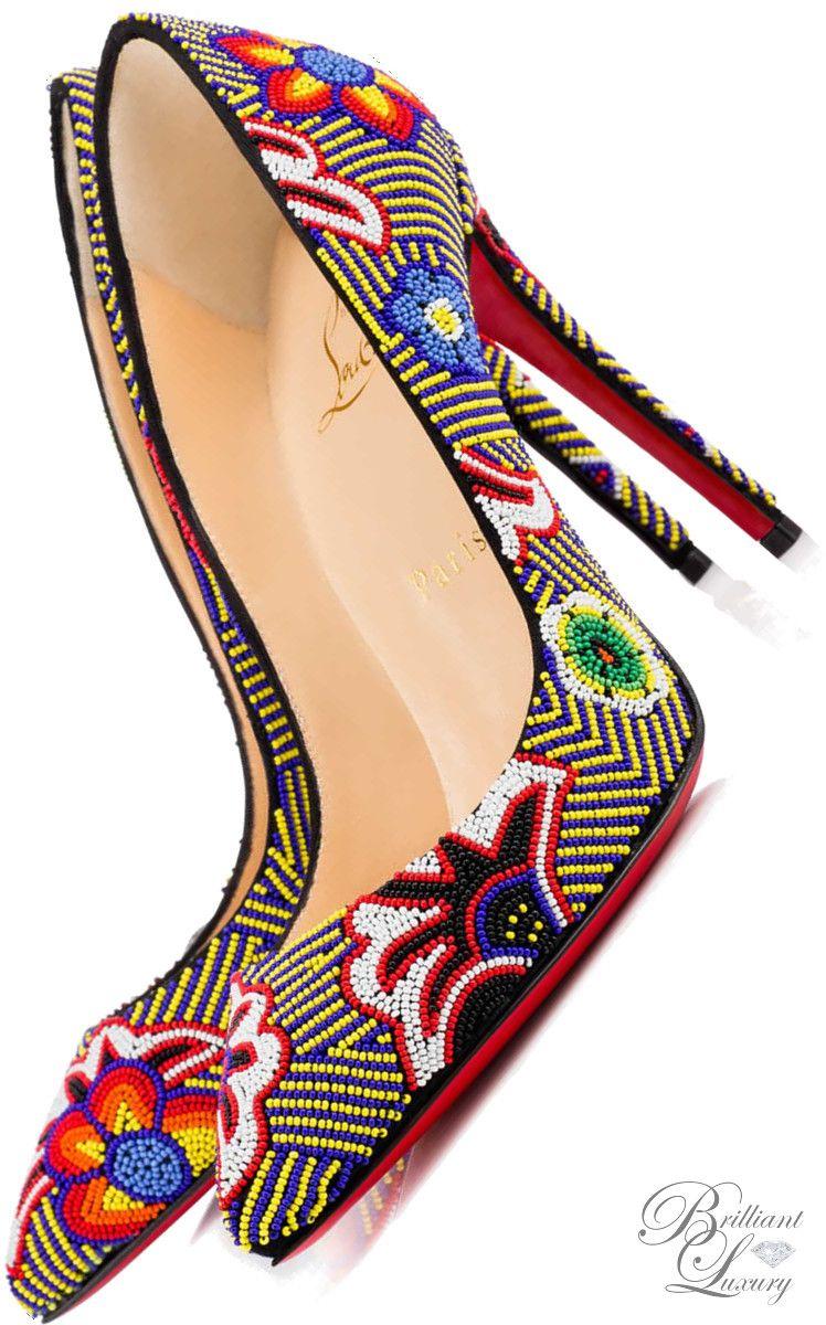 2658daa932b6 Brilliant Luxury   Christian Louboutin  Miss Taos  Beaded Pumps SS 2016
